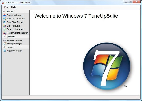 Capture d'écran Windows 7 Tune Up Suite