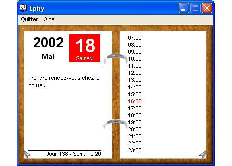 Capture d'écran Ephy 2003