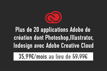 + de 20 applications de création dont Photoshop, Illustrator, InDesign pour ordinateur et appareils mobiles