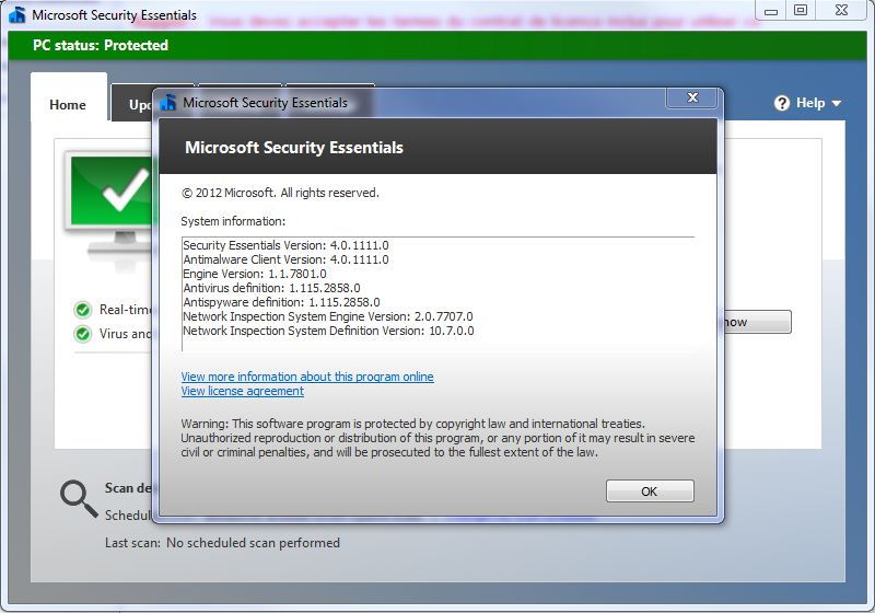 telecharger mise a jour microsoft security essentials gratuit