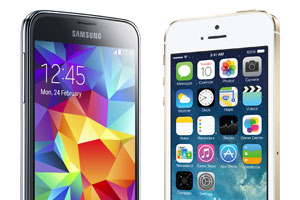 Apple Iphone 5S contre Samsung Galaxy S5 : notre match en 10 rounds