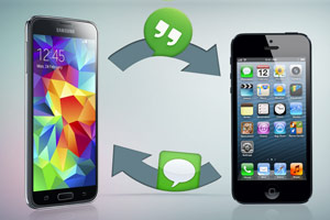 transferer les sms iphone android