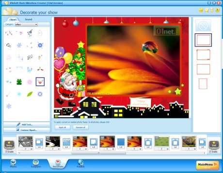 Capture d'écran iPixSoft Flash Slideshow Creator