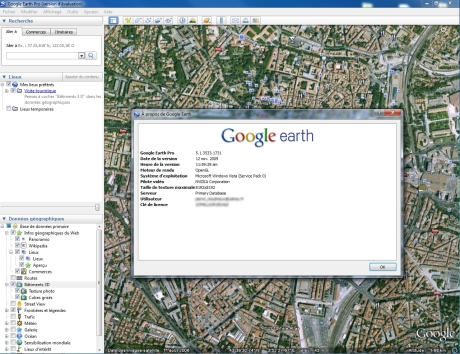 Capture d'�cran Google Earth Pro