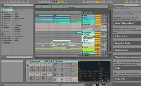 Capture d'écran Ableton Live