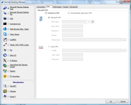 Captures d'écran, screenshots et images de Remote Desktop Manager Free