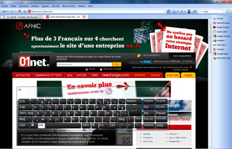 Capture d'écran QtWeb Internet Browser