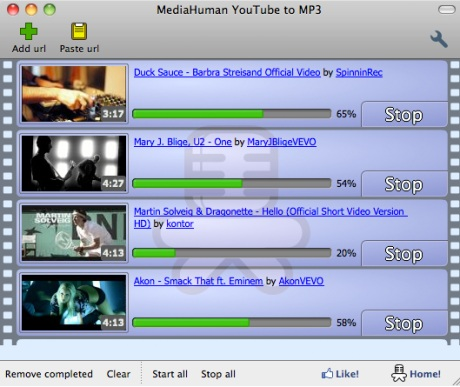 Capture d'�cran MediaHuman YouTube to MP3 Converter