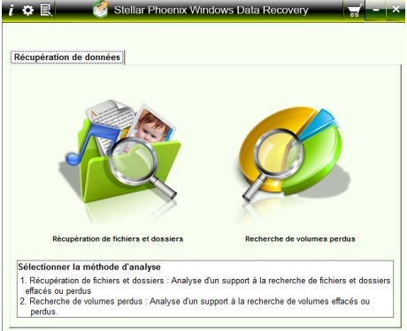 Capture d'écran Stellar Phoenix Windows Data Recovery Professional