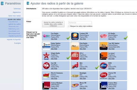 Capture d'écran Radio Player Live pour Chrome