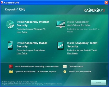 Capture d'écran Kaspersky ONE