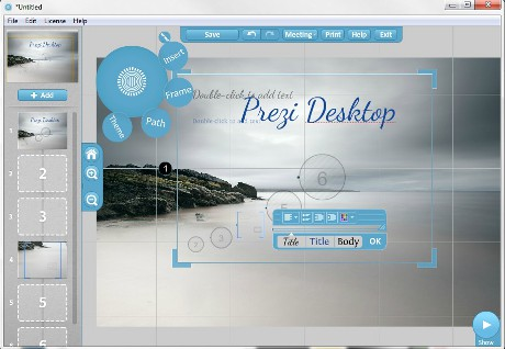 Capture d'�cran Prezi Desktop