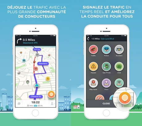 Capture d'écran Waze pour iPhone / iPad