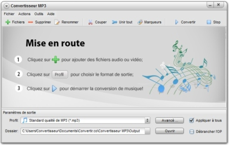 Capture d'écran Convertisseur MP3