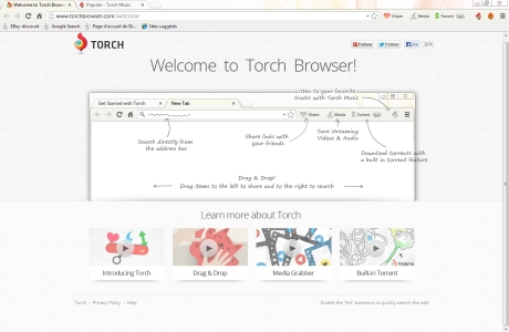 Capture d'écran Torch Browser