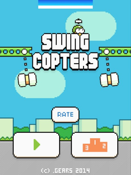Capture d'écran Swing Copters pour iPhone / iPad