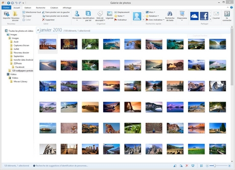how to change photo gallery selection windows 10