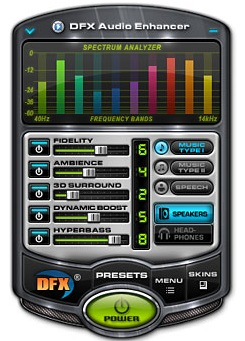 Capture d'�cran DFX Audio Enhancer for Winamp