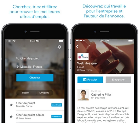 Capture d'écran LinkedIn Job Search pour Android