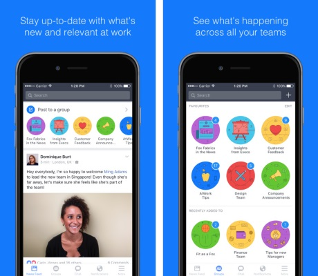 Capture d'écran Workplace by Facebook pour iPhone / iPad