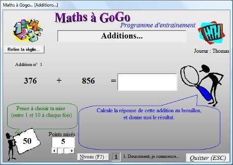 Capture d'écran Maths à Gogo