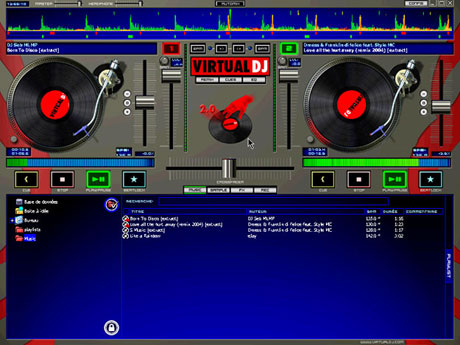 Captures d 39 cran screenshots et images de virtual dj home - Telecharger table de mixage pc gratuit ...