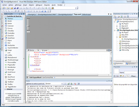 Capture d'écran Silverlight 3 Tools pour Visual Studio 2008 SP1