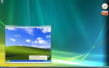 Capture d'écran Windows XP Mode pour Windows 7