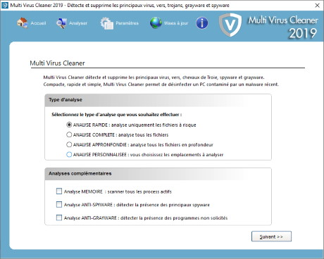 Capture d'écran Multi Virus Cleaner 2012