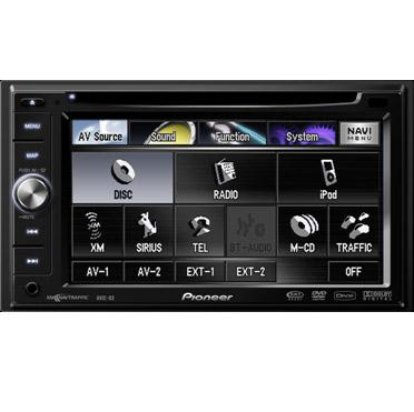 Pioneer AVH-X1600DVD Double DIN Multimedia DVD Receiver with