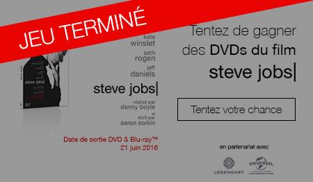 Tentez de gagner des DVDs Steve Jobs