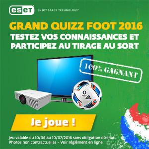 Grand quizz Foot 2016 - Testez vos connaissances et participez au tirage au sort
